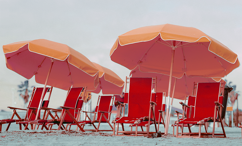 Beach Setting with tanning chairs and umbrellas - 2.0
